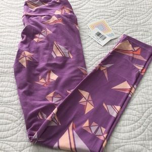LuLaRoe OS Leggings Purple and Pink New